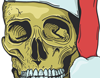 Illustration - Xmass Skull