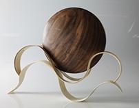 wooden disk and holder set