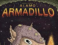Alamo Armadillo Poster