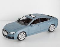 2012 Audi A7 - Papercraft
