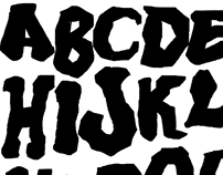 Hand Drawn Kirby Style Typeface