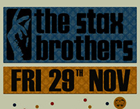 The Stax Brothers gig poster