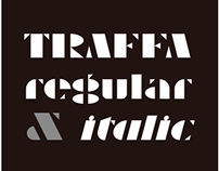 AT Traffa Stencil Font/Typeface