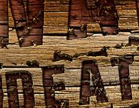 Edit Photoshop 3D wood text