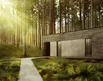 house in forest_pulawy_poland