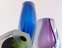 Crystal Sculptural Glass Vessels