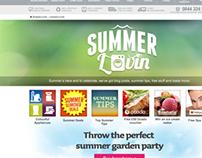 'Summer Lovin' Landing page for ao.com