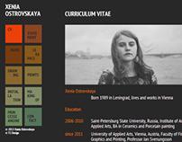 Xenia Ostrovskaya / Artists' Site // 2013