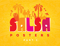Posters for salsa parties