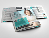 Square Bi-Fold Brochure Mock-Ups