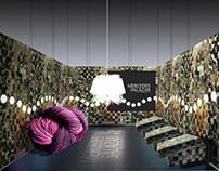Diseño Stand / Memoria: Reciclaje y raíces.