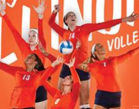 2013 Illinois Volleyball Poster
