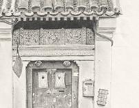 Beijing Door with Door Gods