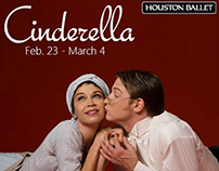 Houston Ballet ad for Cinderella