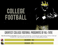 Greatest College Football Programs