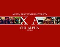 Graphic Designs for Chi Alpha