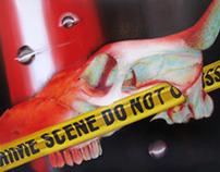 CRIME SCENE serie (oil paintings)