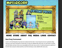 Mediocore Clothing web design