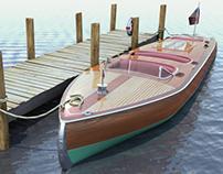 1930s Chris Craft Boat - Autodesk Maya
