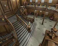 Titanic Grand Staircase - Autodesk Maya