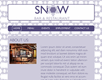 Snow Bar & Restaurant Website Design