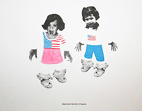 Sisters- Silkscreen and Letterpress