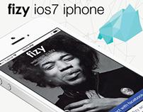 fizy ios7 iphone UI