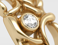 Modeling and visualization of gold rings