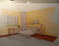 Interior Sketches Day light & Artificial  light