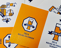 Branding design : Beer life/2014 Relax in Urban