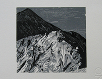 """Żółta Turnia"" (Tatra Mountains) - linocut"