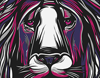 Lion t-shirt design