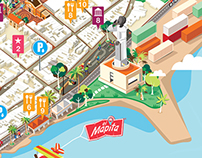 "Isometric map called ""El Mapita"" 2013"