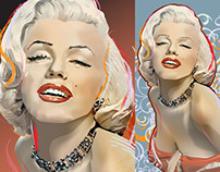 Norma Jeane - digital drawings by K. Fairbanks