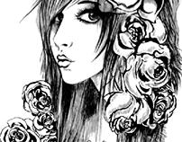 sketch girl