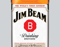 "Jim Beam ""Drinking Brothers"" Identity Treatments"