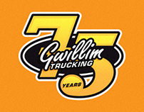 Gwillim Trucking 75th Anniversary Decal