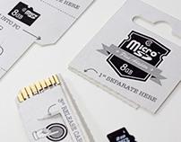 MicroSD card packaging