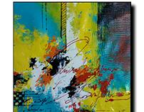Acrylic on canvas Abstract artist