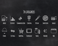 200 Animated Chalkboard Icons