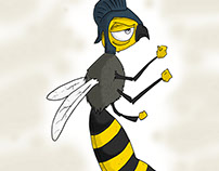 Soldier Bee Illustration