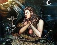 Mary Magdalene by Pallominy after Tintoretto's Maddalen