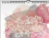 Hand Done Type Calendar