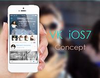 Vkontakte for iOS7 Concept