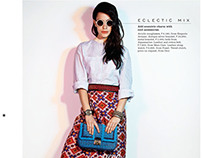 ELLE June 2013 First Looks Model/Product pages