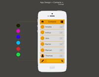 """AppDesign """"Contacts"""" concept"""