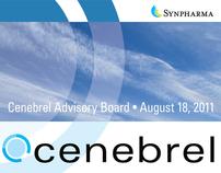 Synpharma/Cenebrel: Logo, Mailer, and Signage