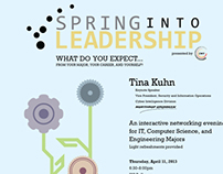 Spring into Leadership Event Posters