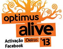 Activação Optimus Alive 2013