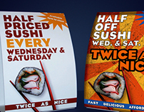 Stir Fry Cafe Table Tents